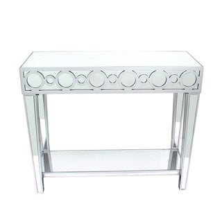 Teton Home AF-106 Mirrored Circles Console Table