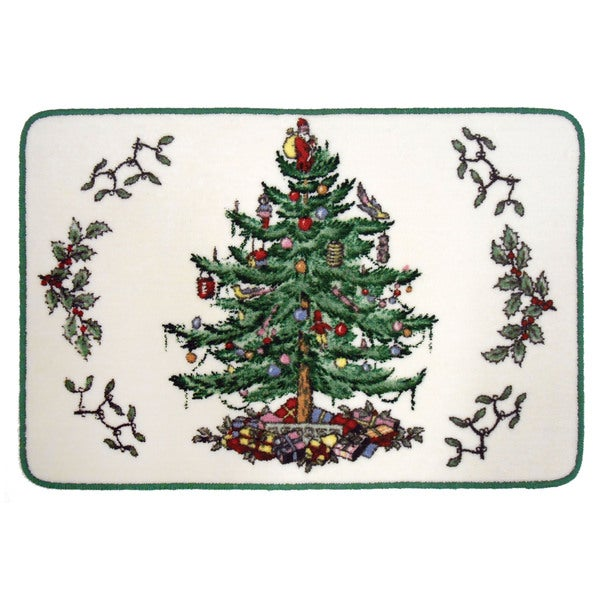 Spode Christmas Tree Holiday Themed Bathroom Rug Free Shipping On Orders Over 45 Overstock