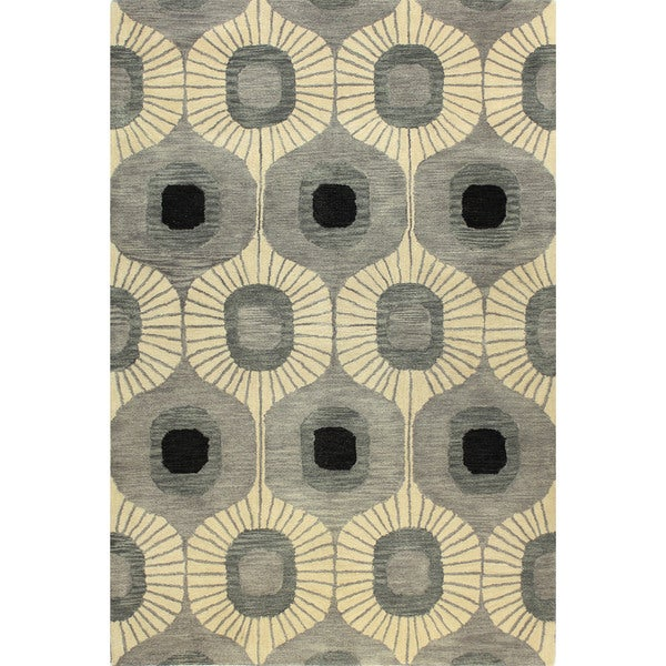 """Brittany Multicolor Wool Tufted Area Rug - 5' x 7'6"""""""