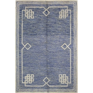 Chloe Blue Wool Tufted Area Rug (5' x 7'6) - 5' x 7'6""