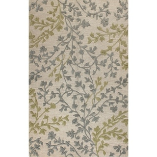 Hand Tufted Montage Flowers Ivory Rug 5 X 7 6