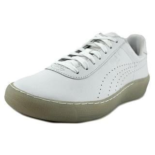 Puma Men's 'Puma Star' White Leather Athletic Shoes