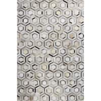 Timothy Woven Leather Area Rug - 5' x 8'