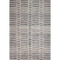 Maya Grey Wool/Cotton Area Rug - 5' x 8'