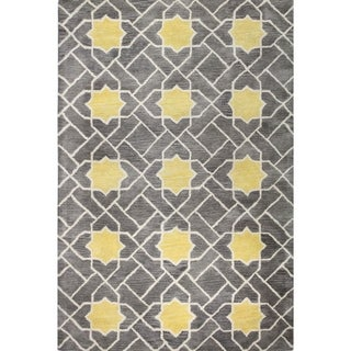 Heather Grey Wool Tufted Area Rug (5' x 8') - 5' x 8'