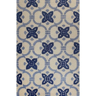"Tufted Blue/Grey/Beige Laura Area Rug (7'6"" x 9'6"")"