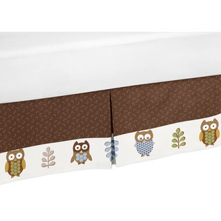 Sweet Jojo Designs Night Owl Toddler Bedskirt