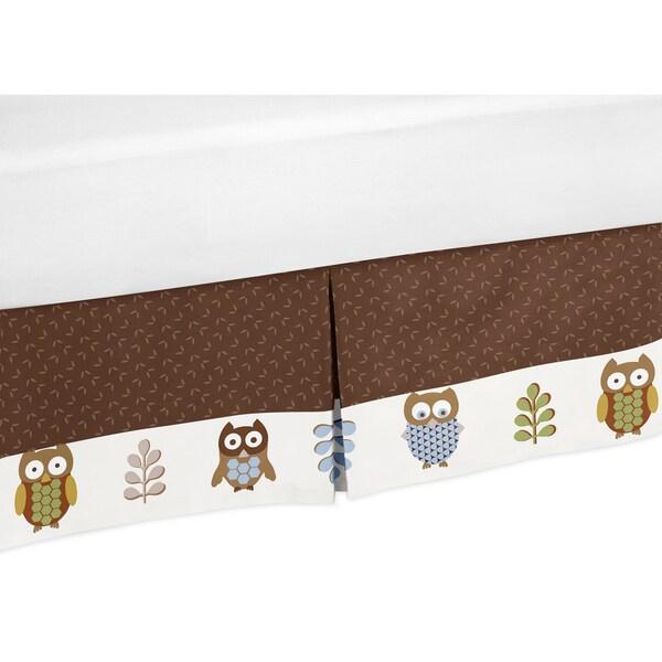 Sweet Jojo Designs Night Owl Toddler Bedskirt