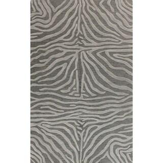 "Hand-tufted Bashian Marissa Striped Wool Area Rug (7'6 x 9'6) - 7'6"" x 9'6"""