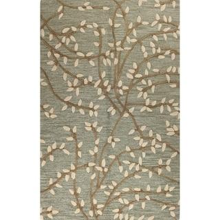 Mia Green Wool Tufted Area Rug (9' x 12') - 9' x 12'