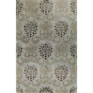 Paul Blue/Brown Wool Tufted Area Rug (8' x 10') - 8' x 10'