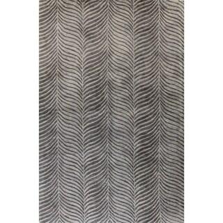 Jeremy Grey Wool Tufted Area Rug (9' x 12')