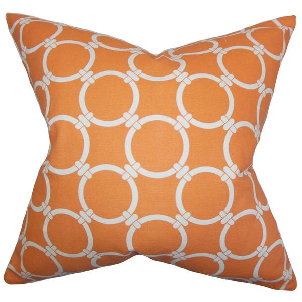 Bechet Geometric Euro Sham Orange