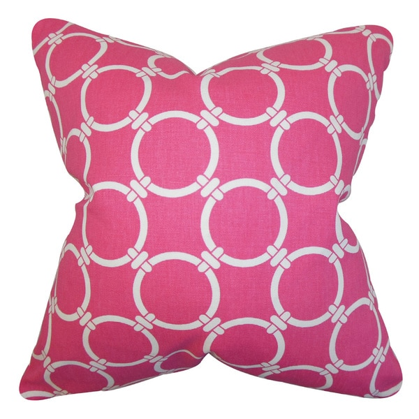 Betchet Geometric Euro Sham Candy Pink
