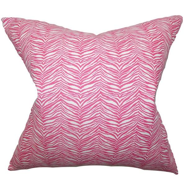 Themis Zebra Print Euro Sham Pink