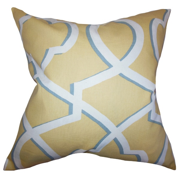 Curan Geometric Euro Sham Yellow