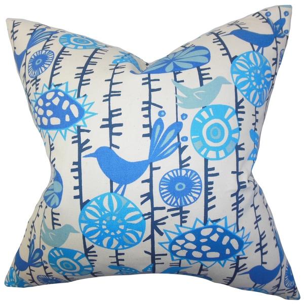 Nettle Floral Euro Sham Blue