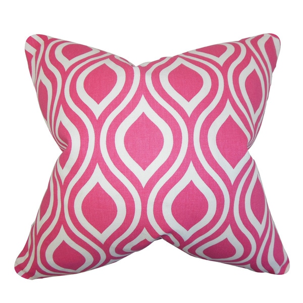 Poplar Geometric Euro Sham Candy Pink