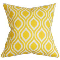 Poplar Geometric Euro Sham Yellow