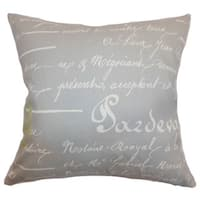 Saloua Typography Euro Sham Reed Natural