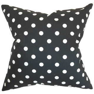 Nancy Polka Dots Euro Sham Black White