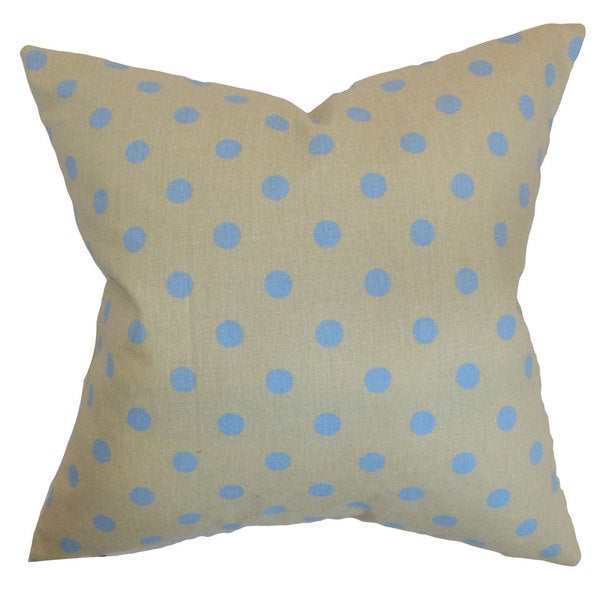 Nancy Polka Dots Euro Sham Grey Blue