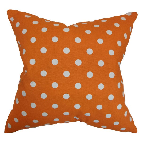 Nancy Polka Dots Euro Sham Orange