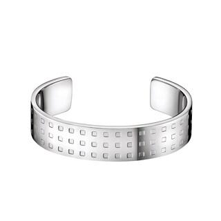Calvin Klein Grid Women's White Stainless Steel Fashion Bracelet