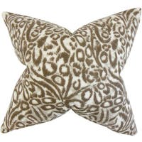 Flanna Geometric Euro Sham Brown