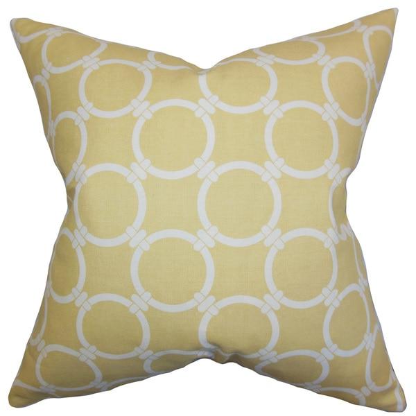 Betchet Geometric Euro Sham Saffron Yellow