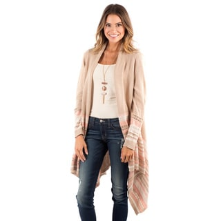 DownEast Basics Women's Rose Cotton/Acrylic Frankfurt Open-front Drape Cardigan