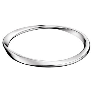 Calvin Klein Curl Women's White Stainless Steel Fashion Bracelet