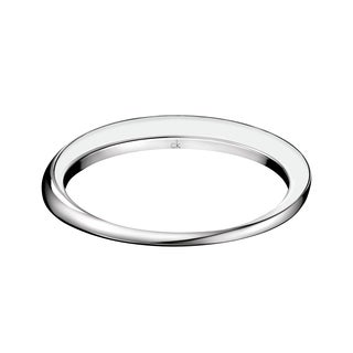 Calvin Klein Women's Art White/Black Stainless Steel and Resin Fashion Bracelet