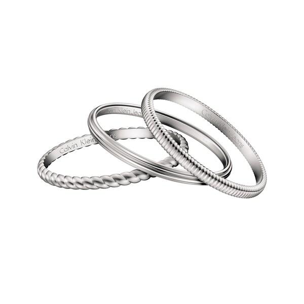 Calvin Klein Waves Stainless Steel Women's Fashion Bracelet