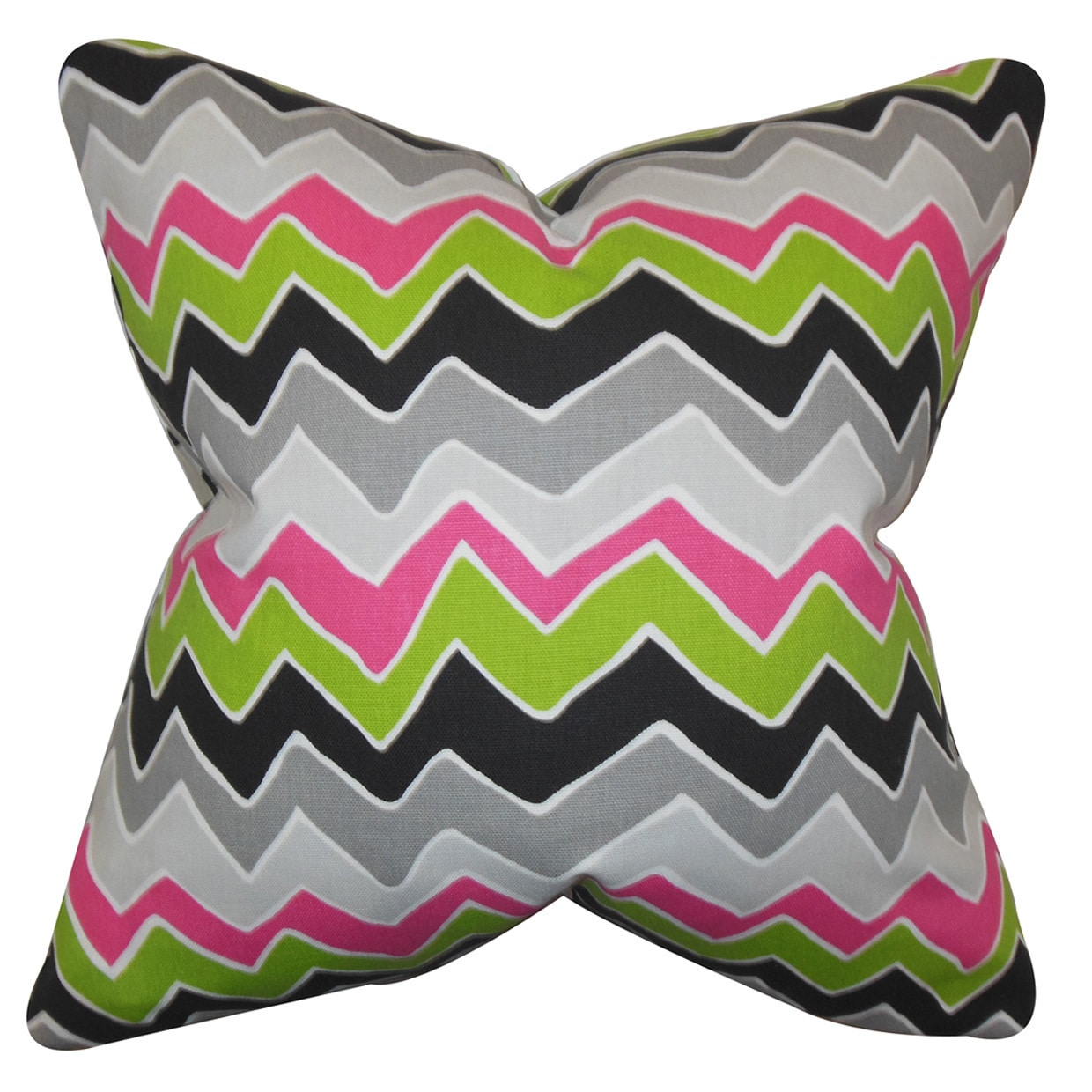 The Pillow Collection Achsah Zigzag Bedding Sham Pink Gray Queen 20 X 30 Throw Pillow Covers Home Kitchen