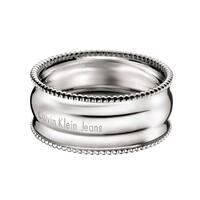 Calvin Klein Waves Women's White Stainless Steel Fashion Bracelet