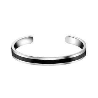 Calvin Klein Women's 'Billet' Stainless Steel/Resin Fashion Bracelet