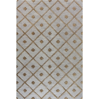Caitlin Black/Taupe/Slate Wool Tufted Area Rug (9' x 12')