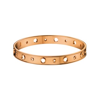 Calvin Klein Notch Women's Stainless Steel Rose Gold PVD Coated Fashion Bracelet