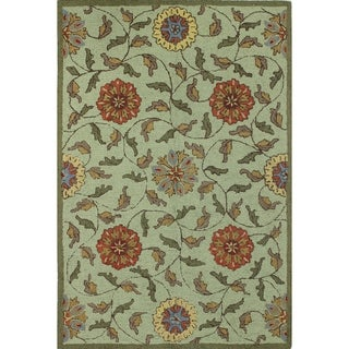 """Jennifer Wool Cotton-backed Hand-tufted Area Rug (5' X 7'6) - 5' x 7'6"""""""