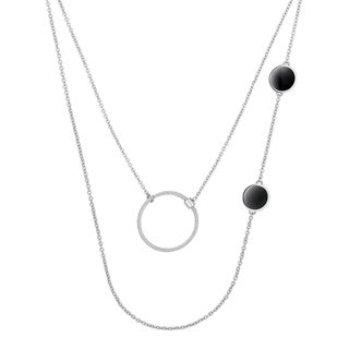 Calvin Klein Agile Stainless Steel and Resin Women's Fashion Necklace