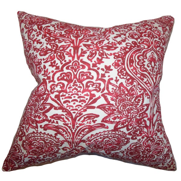Daija Floral Euro Sham Red
