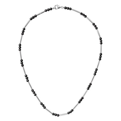 Calvin Klein Chaplet Women's Stainless Steel Black Bead 15.5-inch Fashion Necklace