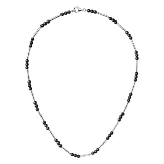 Calvin Klein Chaplet Women's Stainless Steel Black Bead 15.5-inch Fashion Necklace