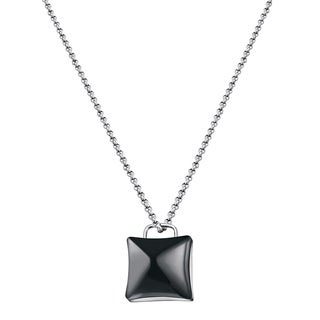 Calvin Klein Domed Women's White/Black Stainless Steel Fashion Necklace