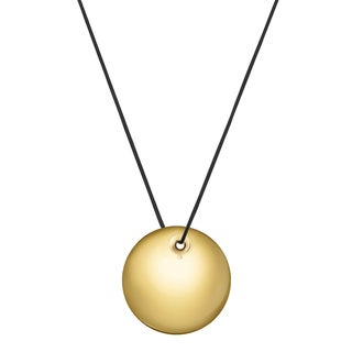 Calvin Klein Ellipse Women's Stainless Steel Yellow Gold PVD Coated Fashion Necklace