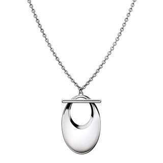 Calvin Klein Women's White Stainless Steel Cable Chain Fashion Necklace