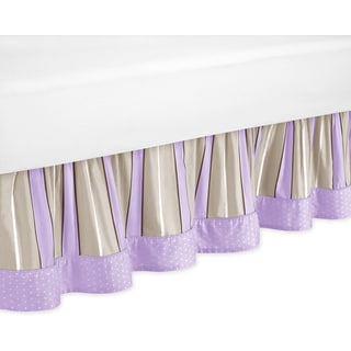 Sweet Jojo Designs Purple and Chocolate Mod Dots Toddler Bedskirt