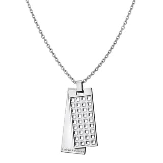 Calvin Klein Glint Women's White Stainless Steel Swarovski Crystal Necklace