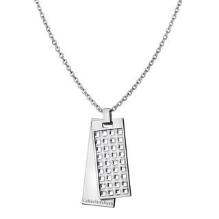 Calvin Klein Glint Women's White Stainless Steel Swarovski Crystal Elements Necklace